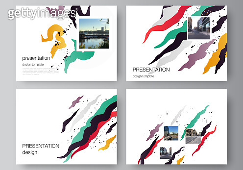 Vector layout of the presentation slides design business templates, multipurpose template for presentation brochure, brochure cover, business report, agency, corporate, portfolio, pitch deck, startup.