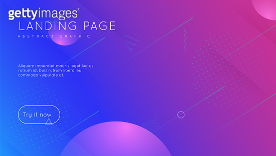 Fluid Poster. Geometric Texture. Blue Trendy Design. Hipster Page. Tech Landing Page. Gradient Cover. Colorful Composition. Flat Abstract Shape. Violet Fluid Poster