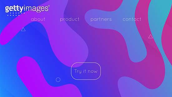 Abstract Shape. Wavy Landing Page. Art Dynamic Poster. Flow Commercial Illustration. Digital Texture. Blue Bright Cover. Creative Paper. Modern Screen. Violet Abstract Shape