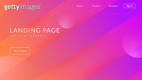 Futuristic Design. Plastic Frame. Flat Liquid Shape. Cool Landing Page. Rainbow Website. Neon Background. Blue Trendy Banner. Horizontal Geometry. Lilac Futuristic Design