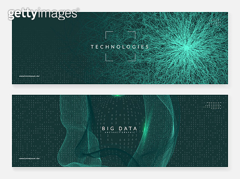 Big data concept. Digital technology abstract