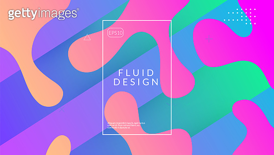 Fluid Background. Geometric Screen. 3d Landing Page. trendy Fra