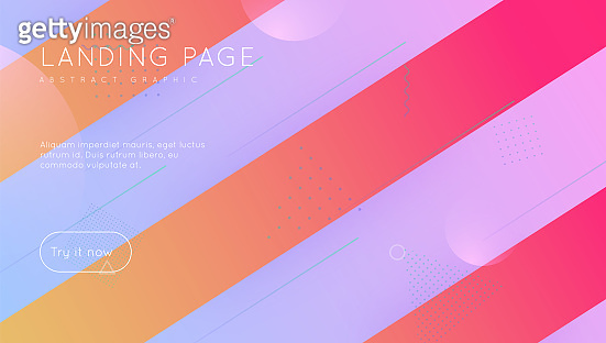 Futuristic Banner. Bright Paper. 3d Landing Page. Minimal Element. Abstract Poster. Pink Vibrant Flyer. Business Brochure. Color Rainbow Background. Lilac Futuristic Banner