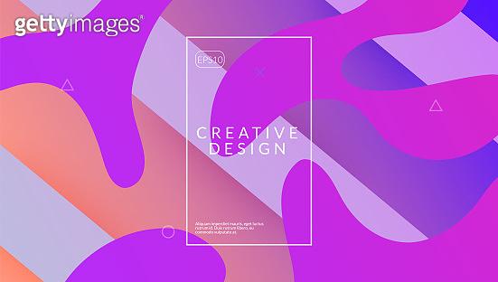 Rainbow Poster. 3d Gradient Design. Colorful Illustration. Purple Plastic Flyer. Vibrant Page. Digital Website. Cool Landing Page. Geometric Layout. Lilac Rainbow Poster