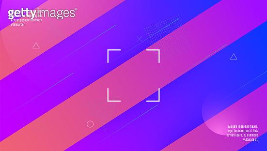 Digital Shape. Blue Hipster Banner. Minimal Poster. Wavy Landing Page. Plastic Page. Art Fluid Cover. Horizontal Template. Rainbow Screen. Magenta Digital Shape