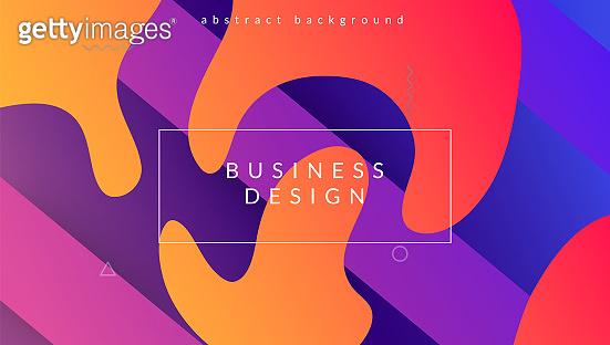 Liquid Design. Business Composition. Blue Trendy Flyer. Modern Texture. Bright Frame. Art Dynamic Layout. Flat Landing Page. Digital Banner. Magenta Liquid Design