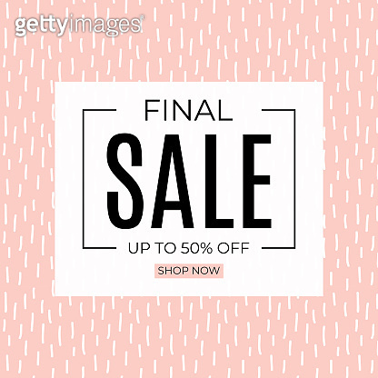 Summer Sale Abstract Background in Simple Minimal Style. Vector Illustration