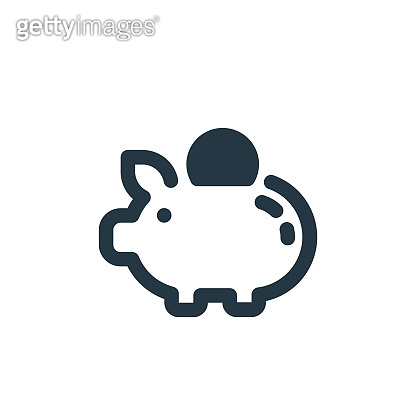 piggy bank icon vector from economy concept. Thin line illustration of piggy bank editable stroke. piggy bank linear sign for use on web and mobile apps, logo, print media..