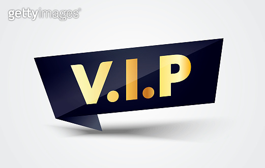 Vector Illustration VIP Label. Modern Web Banner With Very Important People Text.
