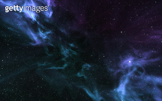 Outer space nebula background