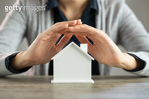 Home insurance and mortgage concept