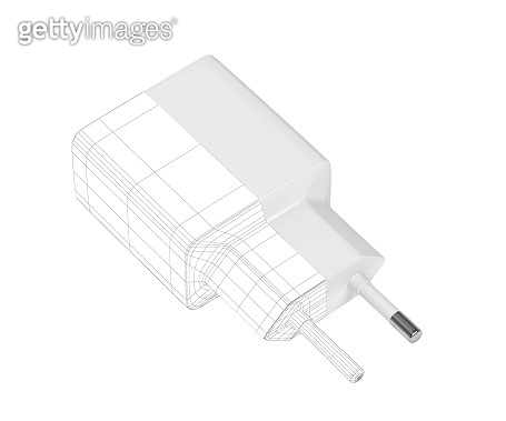 3D model of smartphone charger