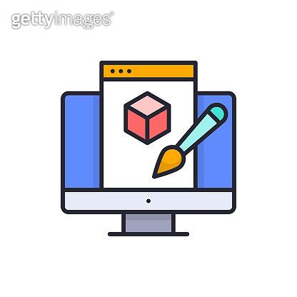 Digital art vector Filled outline icon style illustration. EPS 10 file