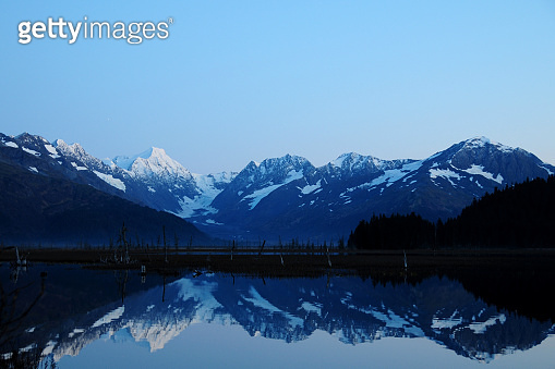 Dusk on Alaska's Kenai Peninsula, USA