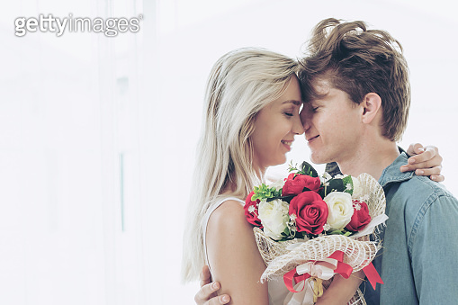 Young couple with romantic moment