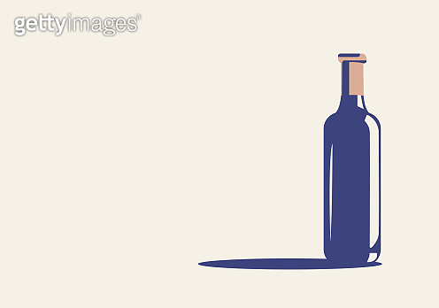 Vector illustration of a bottle of wine