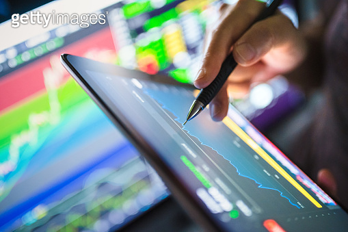 Economy trends background for business idea and all art work design. Abstract finance background.