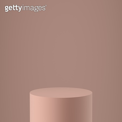 Pedestal with luxury rock concrete natural material. Product Mockup Presentation Platform.