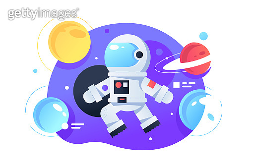 Cosmonaut in space