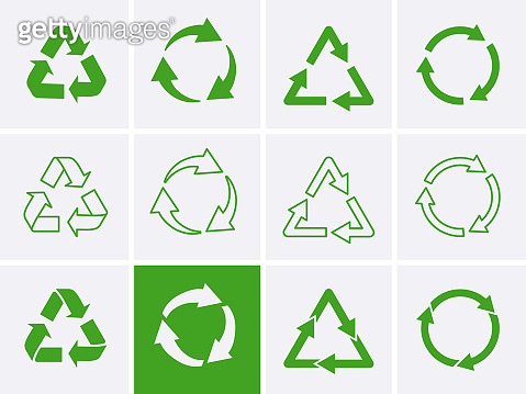 Reuse logo Icon. Recycle Recycling symbol.