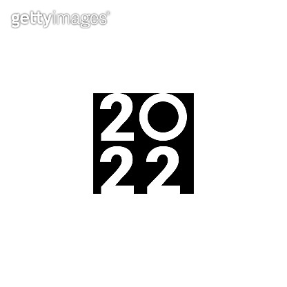 Happy New Year 2022 text design. Cover of business diary for 2022 with wishes. Brochure design template, card, banner. Isolated on white background. Year of the Tiger 2022. Vector illustration.
