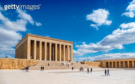 Architectural Details in The Mausoleum of Atatürk from Capital City Ankara, Turkey
