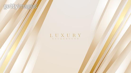 Golden diagonal line luxury background, Modern cover design. invitation card template concept. Vector illustration.