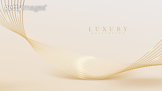Golden glow curve line background, luxury light brown concept. Illustration from vector about backdrop modern template design that feels precious and expensive.