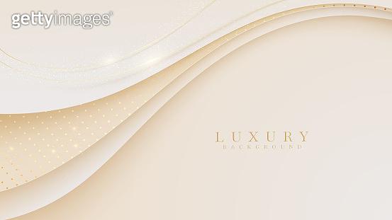 Luxury golden curve line background. Modern cover design. invitation card template concept. Vector illustration.