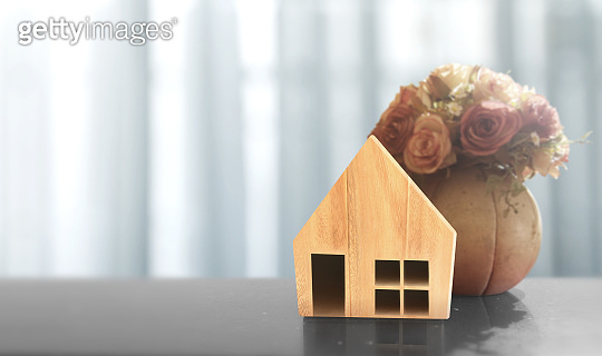 Wooden House Model .Housing and Real Estate concept