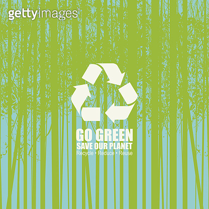 Go green eco poster concept, save our planet
