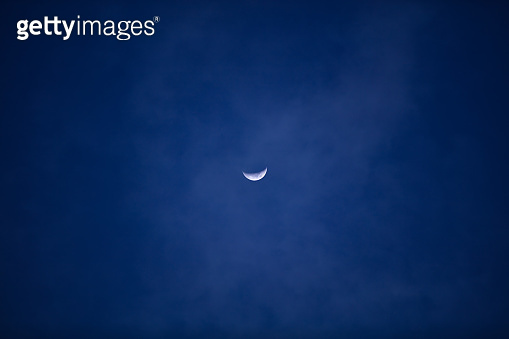Half Moon photographed through a long focal lens.
