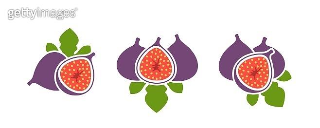 Fig logo. Isolated fig on white background