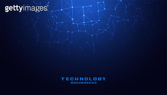 digital technology background with low poly mesh diagram