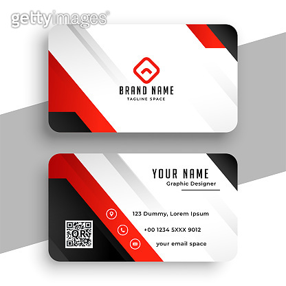 nice red brand business card template design