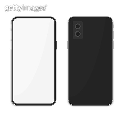 Smartphone in realistic style two sizes.