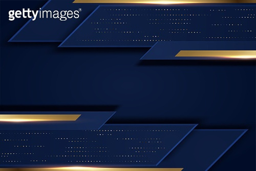 Abstract dark blue paper background triangles shape overlapping layer