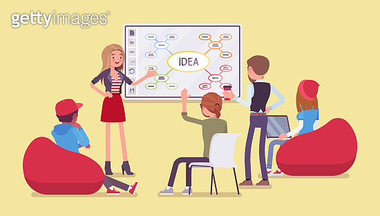 Interactive whiteboard, smart board learning and presentation for start up