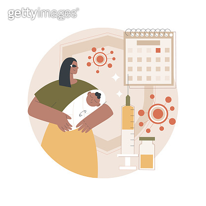 Infant and child vaccination abstract concept vector illustration.