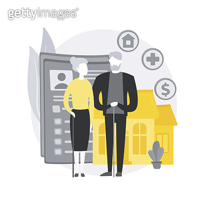 Retirement estate planning abstract concept vector illustration.