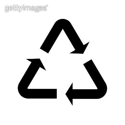 Recycle icon arrow triangle. Vector