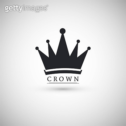 black icon with crown logo