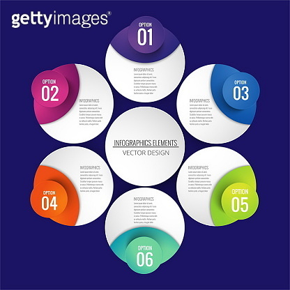 infographics with circular shapes