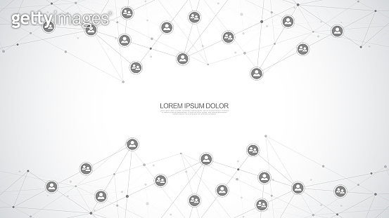 Connecting people and communication concept, social network. Vector illustration