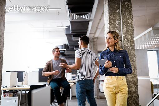 Creative professional designers brainstorming in office. Business, design, work, idea concept