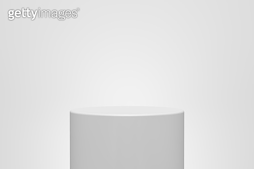 3D White Empty Product Stand. Winner Podium 3D Rendering