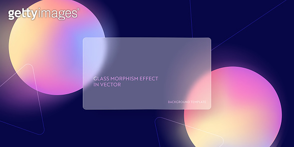 Modern glass morphism fluid gradient background. Vector template futuristic trendy design Banner, 3d Poster, minimalism neon cover, glass blur flyer, presentation. Geometric website, ui backdrop
