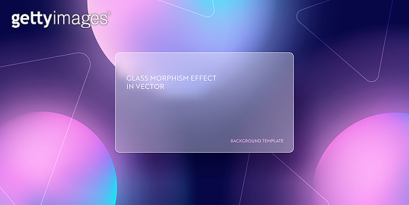 Modern abstract gradient background with glass morphism. Vector template futuristic trendy design Banner, 3d Poster, minimalism neon cover, glass blur flyer. Geometric website, ui glossy backdrop
