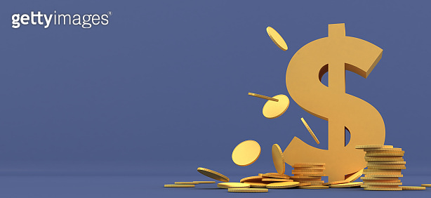 3D illustration background of financial, economic and stock concepts.