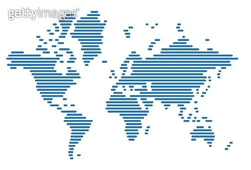 Simplicity modern abstract geometry world map.